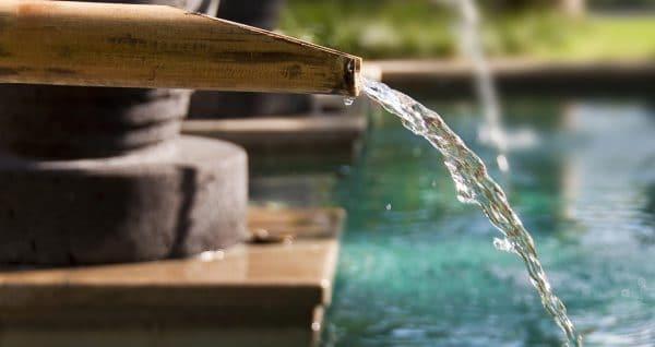 Fontaine et bassin