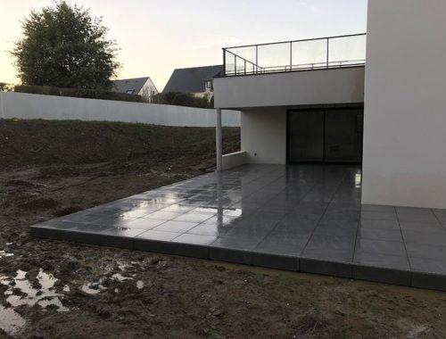 Terrasse dalles sur plots